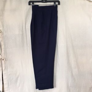 Talbots petite rayon linen navy blue pants 4P